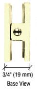 CRL R0M79BR Polished Brass Roman Series Fixed Panel U-Clamp