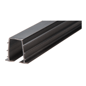 "CRL 14TV Black Top Rail Glazing Vinyl for 1/4"" Monolithic and 5/16"" Thick Laminated Glass - 12'"