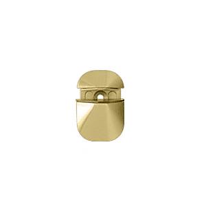 CRL DL631BR Polished Brass Adjustable Shelf Clamp