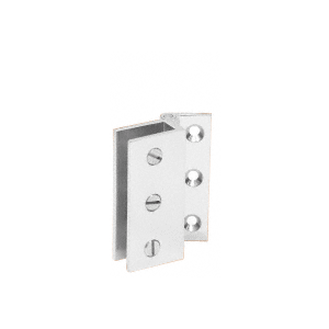 CRL EH168 Chrome Large Wall Mount Set Screw Hinge Pair