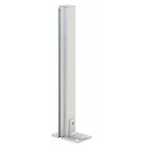 "CRL D992A36RH0E Satin Anodized 36"" Right Hand Open End Standard Partition Post"