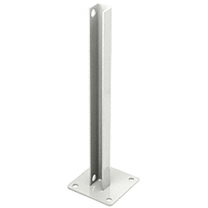 CRL PSB1BW Sky White AWS Steel Stanchion for 180 Degree Round or Rectangular Center or End Posts
