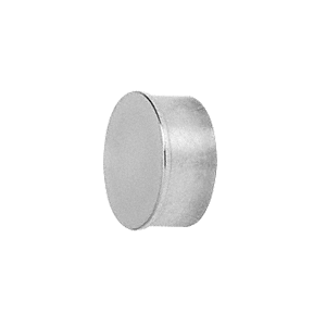 "CRL HR10FPS Polished Stainless Flat End Cap for 1"" Round Tubing"