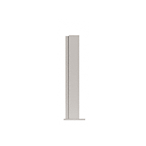 "CRL PP4324EBS Brushed Stainless 24"" High 1-1/2"" Square PP43 Plaza Series Counter/Partition End Post"