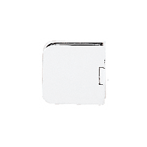 CRL UC66W White Junior Traditional Style Fixed Panel U-Clamp