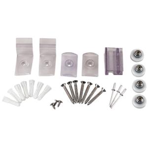 """CRL HP14BA Brite Anodized Frameless Sliding Shower Door Hardware Package for 1/4"""" Glass"""