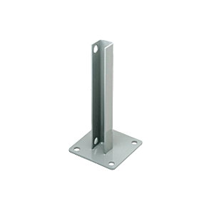 CRL PSB1AAGY Agate Gray AWS Steel Stanchion for 180 Degree Round or Rectangular Center or End Posts