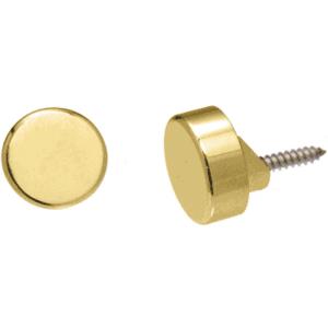 CRL MC02BR Polished Brass Round Mirror Clip Set