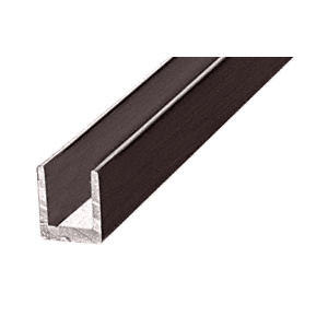 "CRL D631DU Duranodic Bronze 1/4"" Single Aluminum U-Channel"