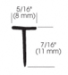 "CRL SDTW-XCP5 CRL Translucent Vinyl Edge ""T"" Wipe for 7/16"" Maximum Gap - pack of 5"
