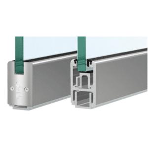 "CRL SR2SSA12CL Custom Length Satin Anodized 2-5/16"" Low Profile Sidelite Rail With Saddle"