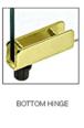 CRL GDH5BR Brass Standard Mount Glass Door Hinge