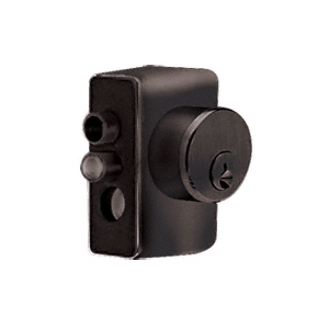 CRL KAD2L0RB Oil Rubbed Bronze Left Hand Keyed Access Device for Glass Door Panic and Deadbolt Handle