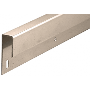 "CRL D645BN Brushed Nickel 1/4"" Deep Nose Aluminum J-Channel"