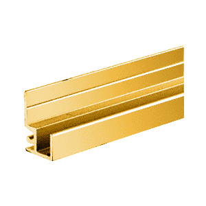 """CRL D1680GA Gold Anodized """"Make It Yourself"""" Mirror Frame Extrusion 144"""" Stock Length"""