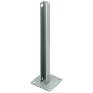 CRL PSB3CAGY Agate Gray AWS Steel Stanchion for 90 Degree Rectangular Corner Post