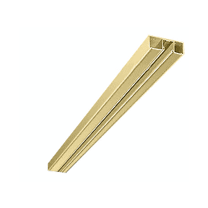 "CRL DCH0PBC Polished Brass 4-1/2"" Header with Glazing Pocket Only Custom Length"