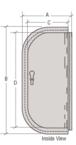 "CRL 9516DU Dark Bronze 5"" x 16"" Package Drop Slot"