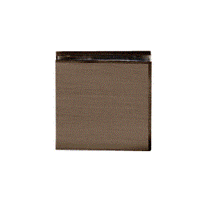 CRL SCU4BBRZ Brushed Bronze Square Style Hole-in-Glass Fixed Panel U-Clamp