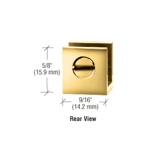 Package CRL Brass Set Screw Glass Shelf Clamp for 3//16 to 1//4 Glass