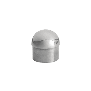 "CRL HR20DPS Polished Stainless Dome End Cap for 2"" Tubing"