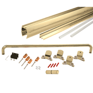 """CRL CK386060BGA Brite Gold Anodized 60"""" x 60"""" Cottage CK Series Sliding Shower Door Kit With Clear Jambs for 3/8"""" Glass"""