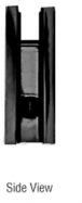 CRL SGCU1BL Black Square Style Notch-in-Glass Fixed Panel U-Clamp
