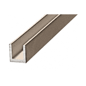 "CRL D631BN Brushed Nickel 1/4"" Single Aluminum U-Channel"