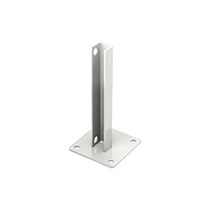 CRL PSB1AW Sky White AWS Steel Stanchion for 180 Degree Round or Rectangular Center or End Posts