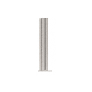 """CRL PP4318LBS Brushed Stainless 18"""" High 1-1/2"""" Square PP43 Plaza Series Counter/Partition Corner Post"""