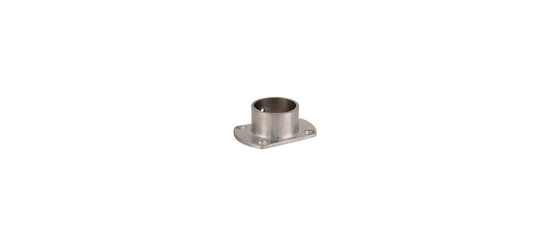 """Polished Stainless Cut Flange for 1-1//2/"""" Tubing"""