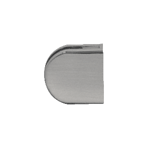 "CRL Z410BN Brushed Nickel Z-Series Round Type Flat Base Zinc Clamp for 3/8"" Glass"