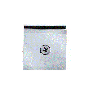 CRL SCU4BSC Brushed Satin Chrome Square Style Hole-in-Glass Fixed Panel U-Clamp