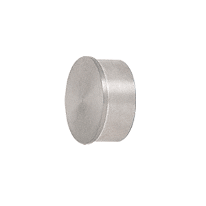 "CRL HR20FBS Brushed Stainless Flat End Cap for 2"" Round Tubing"
