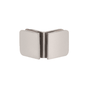 Satin Nickel Roman Series 90 Degree Glass-to-Glass Clamp