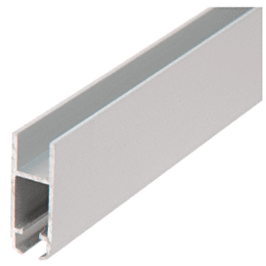 """CRL S710A Satin Anodized Security H-Bar for Anti-Lift Showcase Track Assembly - 144"""""""