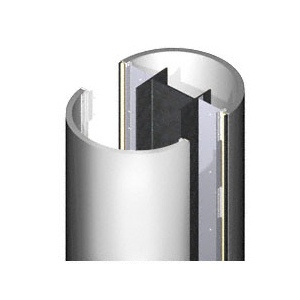 CRL DCR20CPS Custom Polished Stainless Deluxe Series Round Column Covers Two Panels Opposing