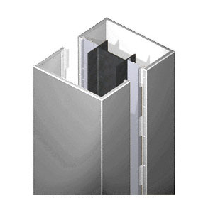 CRL DCS45CPS Custom Polished Stainless Deluxe Series Square Column Covers Four Panels Staggered