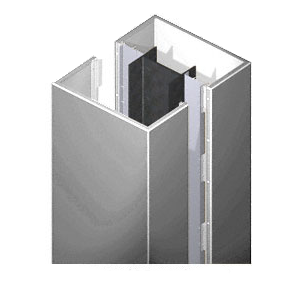 CRL DCS20CPS Custom Polished Stainless Deluxe Series Square Column Covers Two Panels Opposing