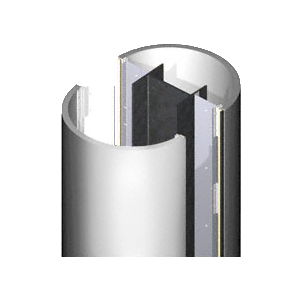 CRL PCR30CPS Custom Polished Stainless Premier Series Round Column Covers Three Panels Staggered