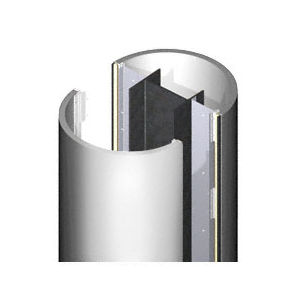 CRL PCR20CPS Custom Polished Stainless Premier Series Round Column Covers Two Panels Opposing