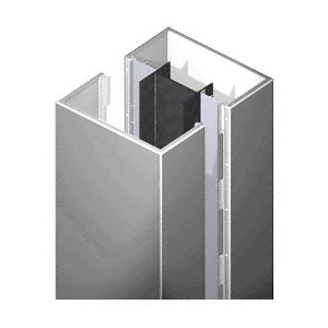 CRL PCS20CPS Custom Polished Stainless Premier Series Square Column Covers Two Panels Opposing