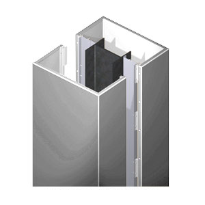 CRL ECS45CPS Custom Polished Stainless Standard Series Square Column Covers Four Panels Staggered