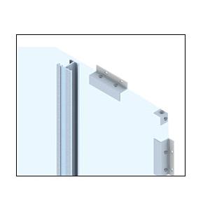 CRL EWS100CSM Custom Silver Metallic Standard Series Wall Panel System