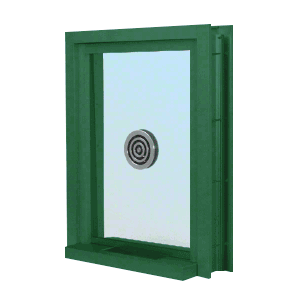 "CRL C0EW18K Custom KYNAR Paint (Specify) Aluminum Clamp-On Frame Exterior Glazed Exchange Window with 18"" Shelf and Deal Tray"