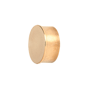 "CRL HR15FPB Polished Brass Flat End Cap for 1-1/2"" Round Tubing"