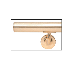 """Polished Brass Flat End Cap for 1-1//2/"""" Round Tubing"""