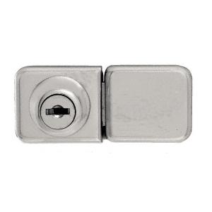 CRL UV417BN Brushed Nickel UV Bond Classic Series Glass Door Lock and Keeper for Double Doors
