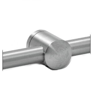 CRL CBR5BS Brushed Stainless Center Standoff Connector (Radius Back)