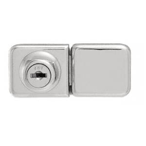 CRL UV417CH Chrome UV Bond Classic Series Glass Door Lock and Keeper for Double Doors
